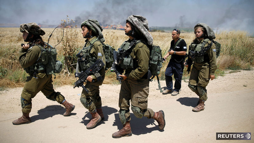 pásmo Gazy Izrael vojaci protest