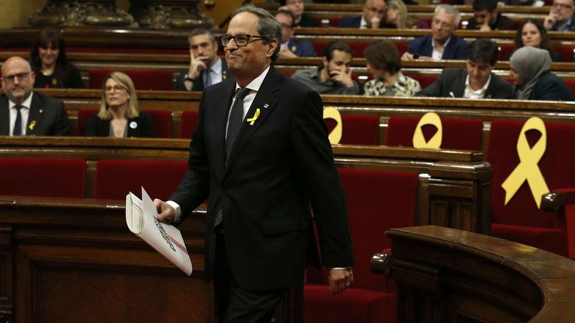 Španielsko Katalánsko Torra hlasovanie torra