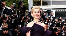 Herečka Emilia Clarke na premiére filmu Solo: A Star Wars Story v Cannes.