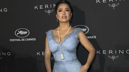Herečka Salma Hayek na ceremoniáli Kering Women In Motion v Cannes.