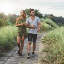 relax, chôdza, turistika, prechádzka, príroda, pár, milenci, láska