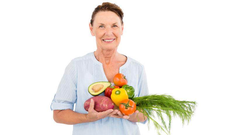zelenina, jedlo, dôchodca