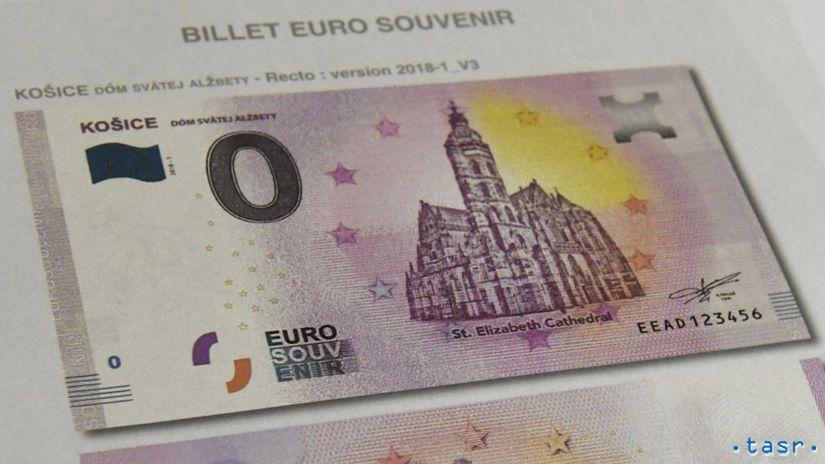 Košice, eurobankovky, suvenír