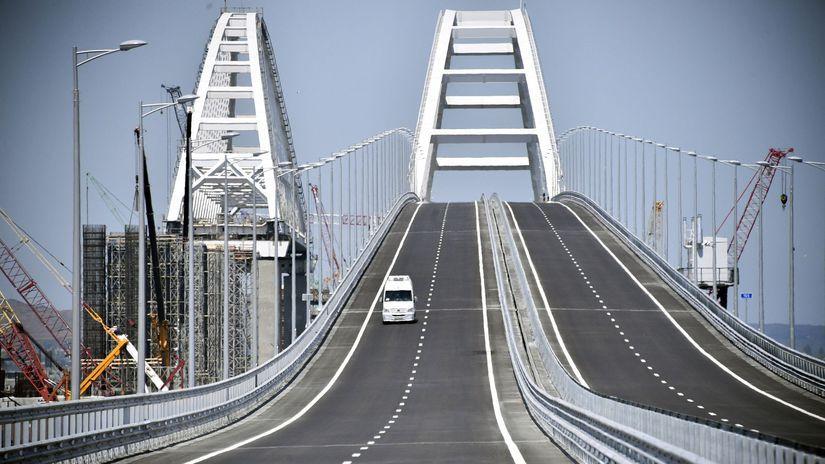 Rusko, Ukrajina, Krym, most, otvorenie, Putin