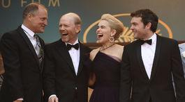 Woody Harrelson, režisér Ron Howard, herečka Emilia Clarke a herec Alden Ehrenreich
