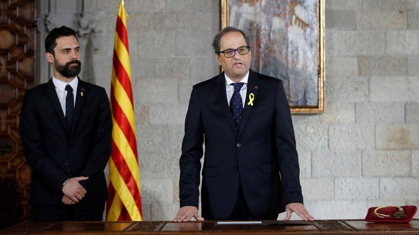 Španielsko Katalánsko Torra úrad nástup