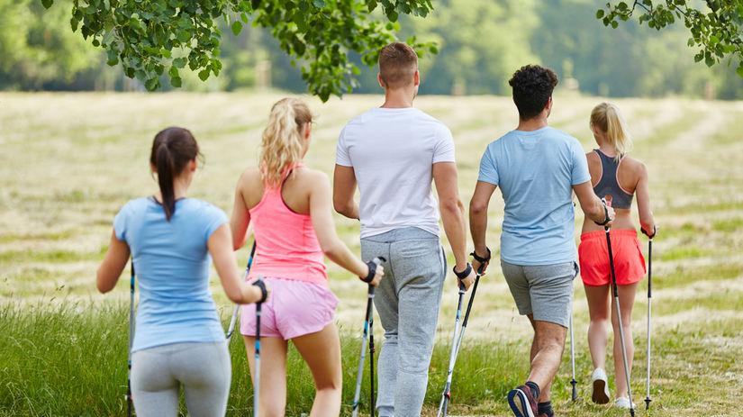nordic walking, šport, príroda