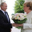 Vladimir Putin Angela Merkelová