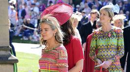 Cressida Bonas, bývalá priateľka princa Harryho, prichádza na svadobný obrad.