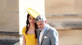 Herec George Clooney a jeho manželka Amal Clooney.