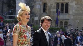James Blunt a Sofia Wellesley prichádzajú na svadobný obrad.