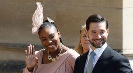 Tenistka Serena Williams a jej manžel - podnikateľ Alexis Ohanian.,