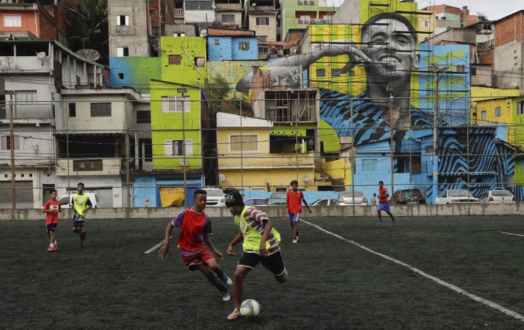 Brazília, futbal, deti, Sao Paulo
