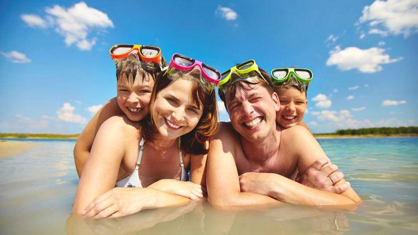 dovolenka, rodina, more, kúpanie, leto, teplo,...