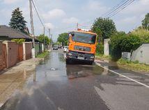 havária, Vrakuňa, Bratislava, prasknutie, potrubie, voda