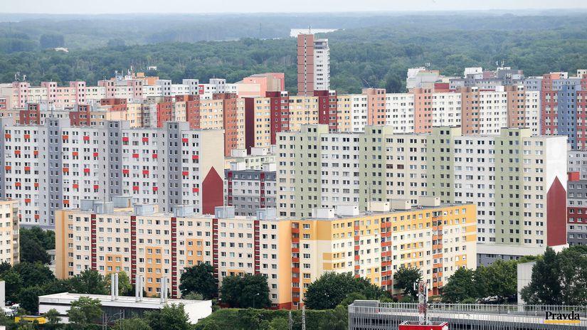 Bratislava, mesto, pohlad, petrzalka, panelak,...