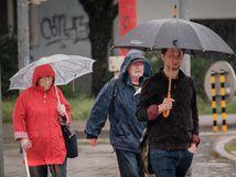 počasie dáždnik dážď