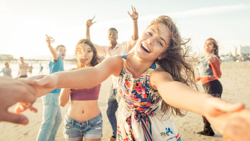 priateľ, pláž, radosť, pohoda, mladosť, voľný...