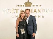Roger Federer a jeho manželka Mirka Federer