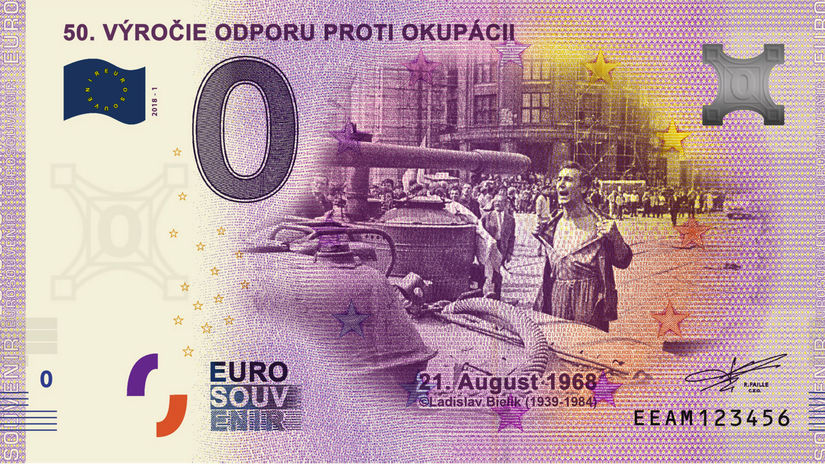 euro, okupácia, bankovka