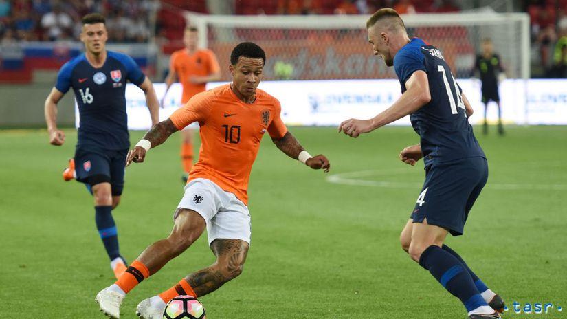 SR Holandsko Futbal Príprava TTX