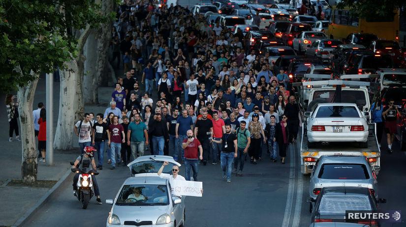 Gruzínsko, protest