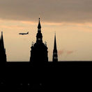 Praha, lietadlo, Pražský hrad
