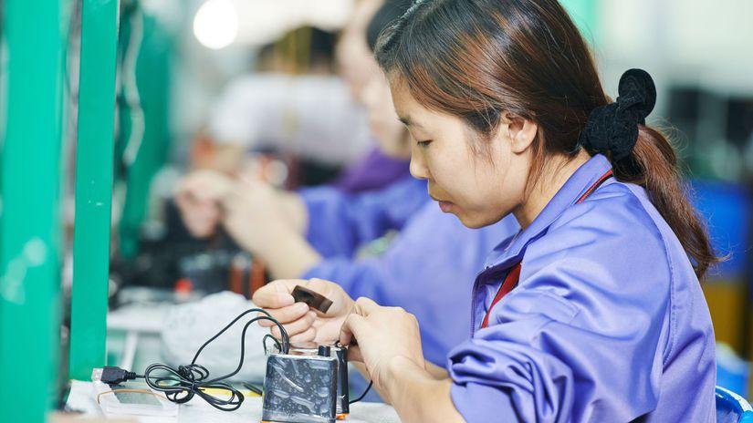 čínska pracovníčka, vykorisťovanie