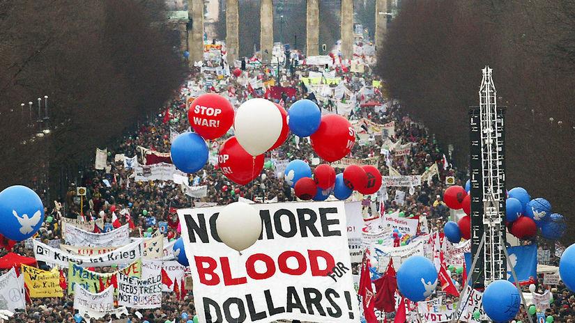 mierová demonštrácia, Berlín, Brandenburská brána