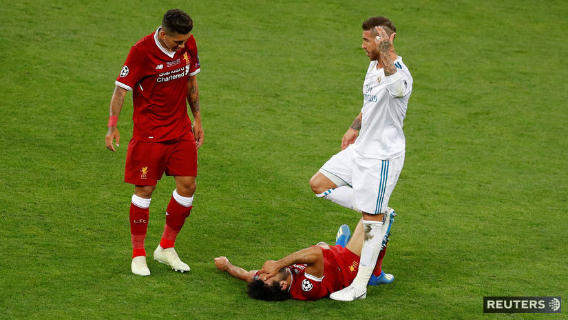 Mohamed Salah, Sergio Ramos, Roberto Firmino