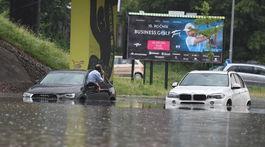Slovensko počasie dažde záplavové Bratislava