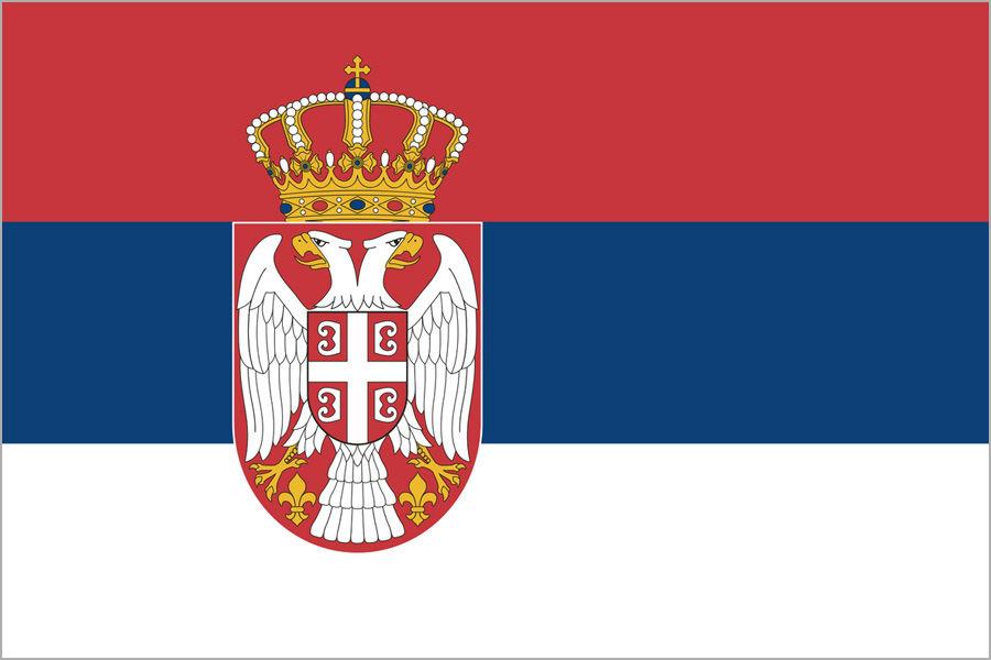 Srbsko, vlajka