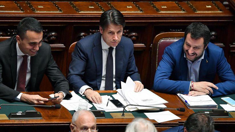 Luigi Di Maio, Giuseppe Conte, Matteo Salvini