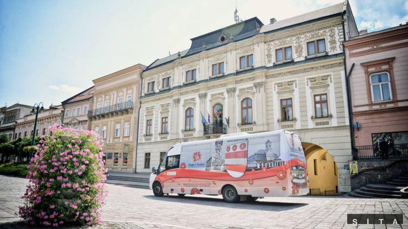 Prešov, vyhliadkový autobus - Preššovská 49-tka