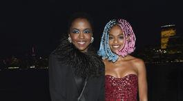 Speváčka Lauryn Hill vzala na prehliadku Saint Laurent aj dcérku Selah Marley.