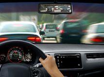 autá, kolóna, tachometer