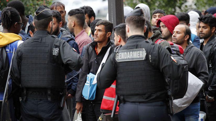 migrant, utečenec, paríž