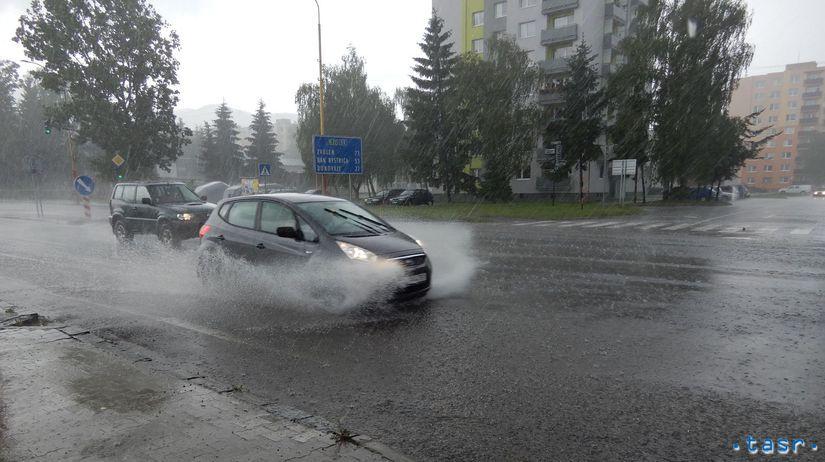 Liptov, búrka, dážď, zrážky