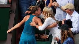 Nadia Comaneciová na finále Roland Garros.