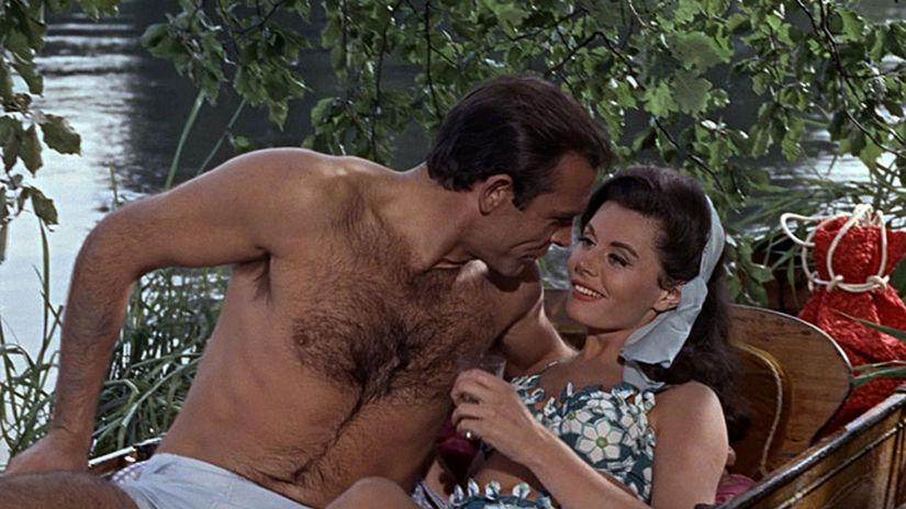 Eunice Gaysonová a Sean Connery vo filme...
