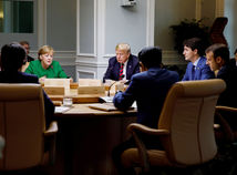 G7, Trump, Merkelová, Trudeau