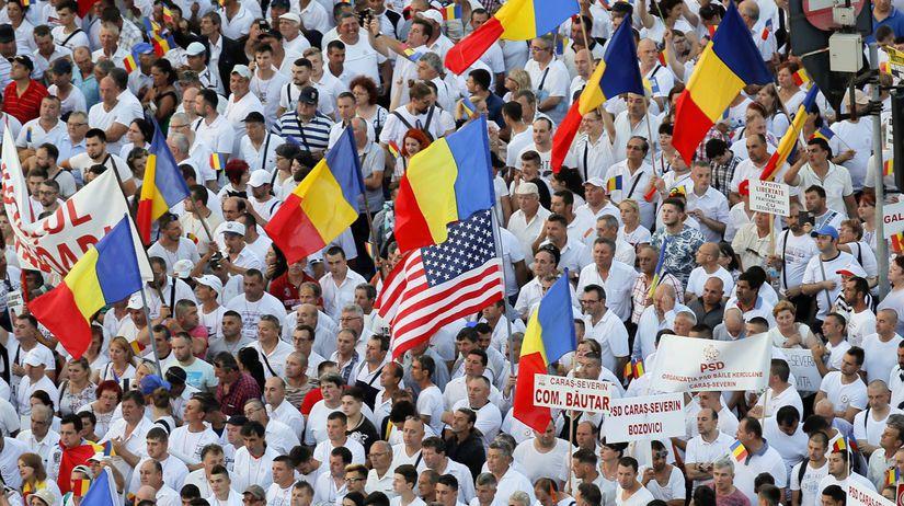 Rumunsko, vládny protest, Bukurešť