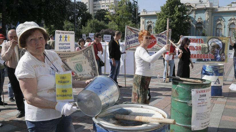 Ukrajina, demonštrácia, protest