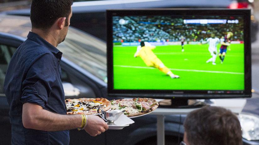 Televízia, ilustračná, futbal