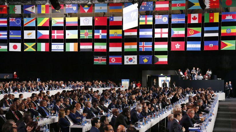 Rusko Futbal MS2018 FIFA Kongres Putin privítanie