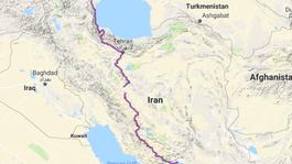 Irán očami cyklocestovateľa, cycle2inspire, mapa