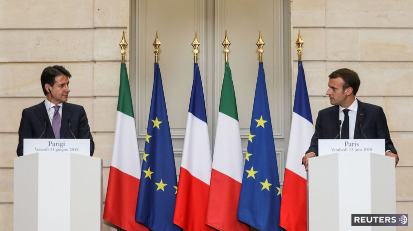 Emmanuel Macron, Giuseppe Conte