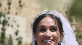 Vojvodkyňa Meghan v máji 2018 počas svadobného dňa na hrade Windsor.