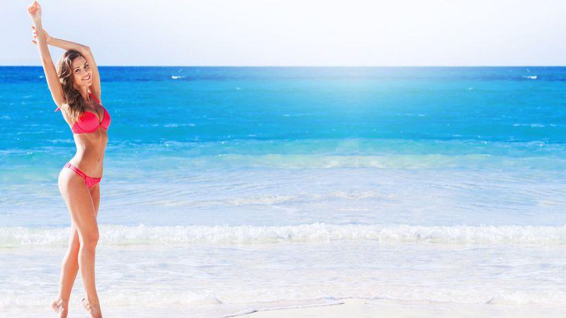plavky, dekolt, pláž, more, leto, opaľovanie,...
