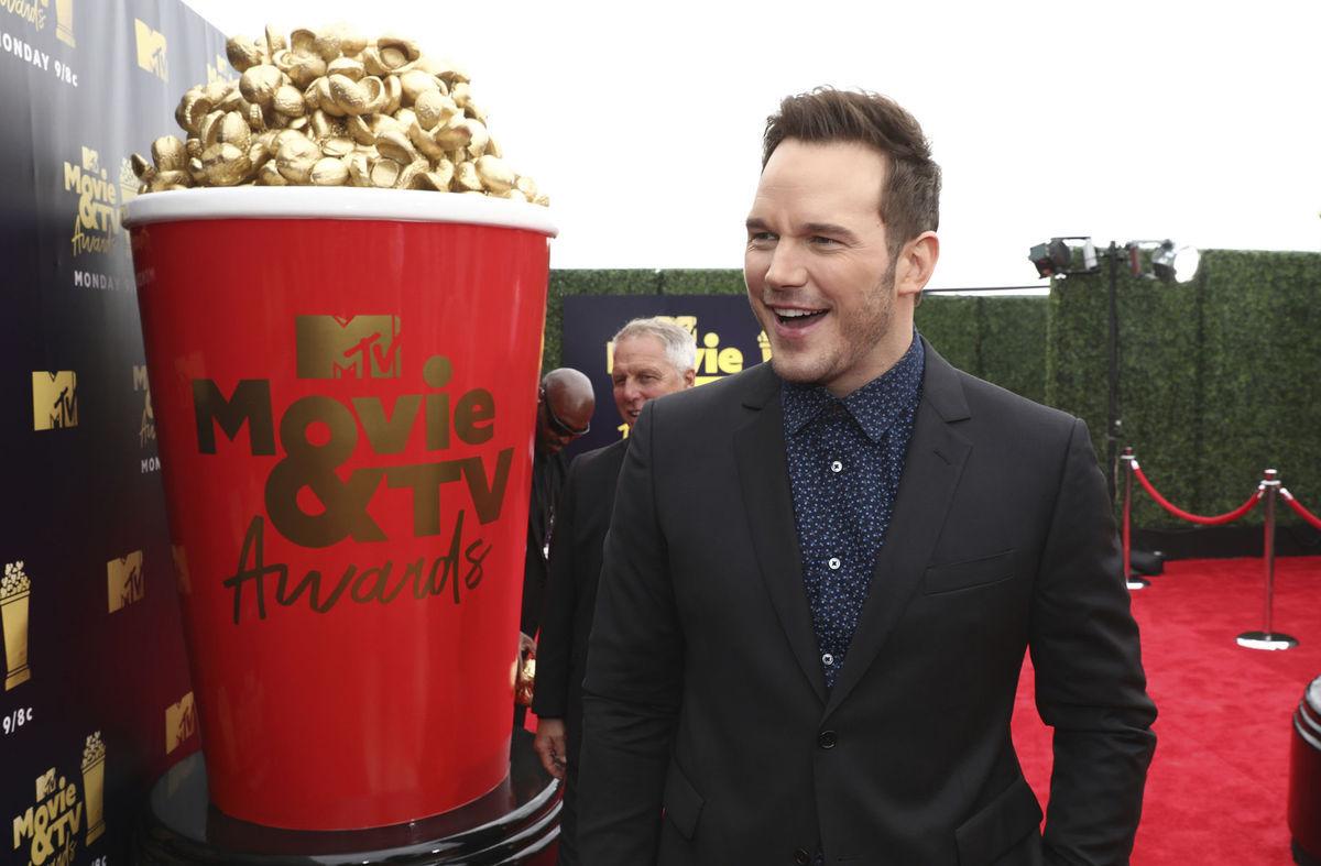 850522845a6e Herec Chris Pratt prichádza na vyhlásenie cien MTV Movie and TV Awards.